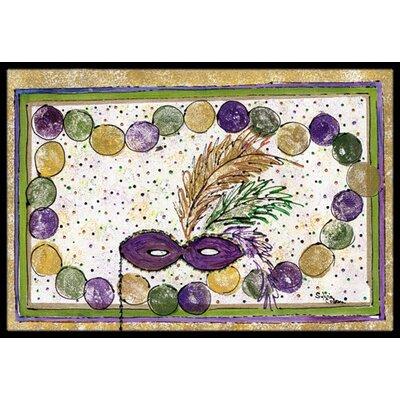 Mardi Gras Beads Doormat Mat Size: Rectangle 16 x 2 3