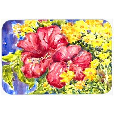Flower Hibiscus Kitchen/Bath Mat Size: 20 H x 30 W x 0.25 D