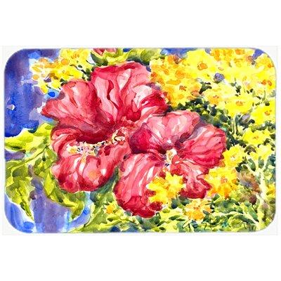 Flower Hibiscus Kitchen/Bath Mat Size: 20 H x 30 W x 0.25 D