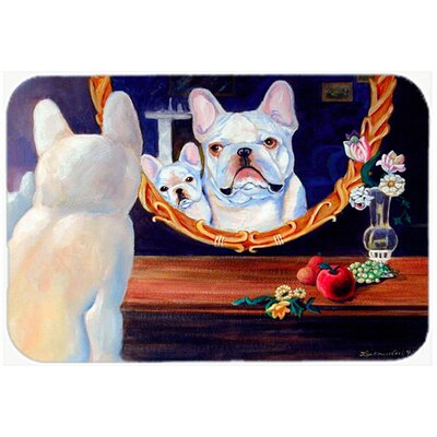 French Bulldog Kitchen/Bath Mat Size: 24 H x 36 W x 0.25 D
