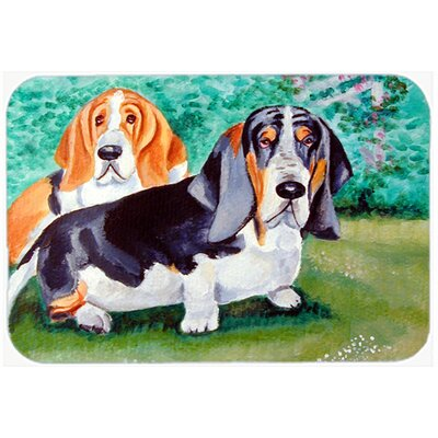 Basset Hound Double Trouble Kitchen/Bath Mat Size: 24 H x 36 W x 0.25 D