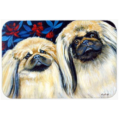 What a Pair Of Pekingese Kitchen/Bath Mat Size: 24 H x 36 W x 0.25 D