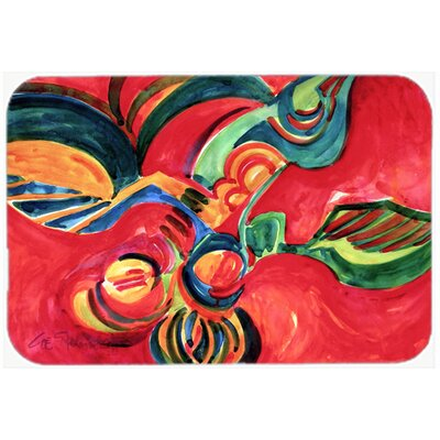 Flowers and Berries Kitchen/Bath Mat Size: 20 H x 30 W x 0.25 D