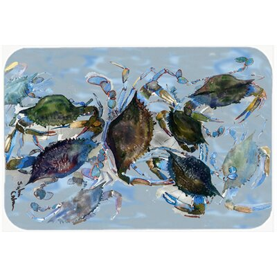 Crab Kitchen/Bath Mat Size: 20