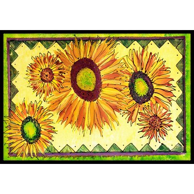 Sunflower Doormat Rug Size: 2 x 3