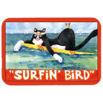Cat Surfin Bird Kitchen/Bath Mat Size: 24 H x 36 W x 0.25 D