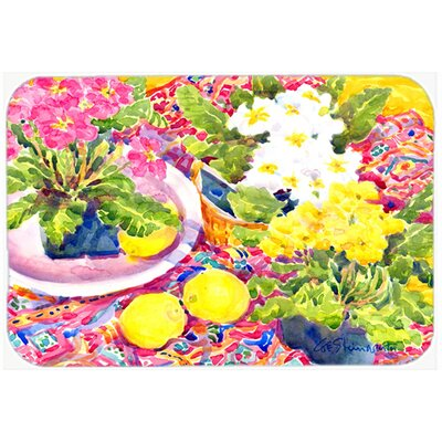Flower Primroses Kitchen/Bath Mat Size: 24 H x 36 W x 0.25 D