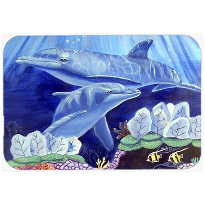 Dolphin Unde The Sea Kitchen/Bath Mat Size: 24 H x 36 W x 0.25 D