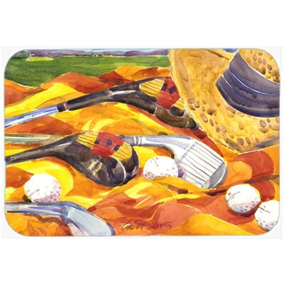 Golf Clubs Golfer Kitchen/Bath Mat Size: 20 H x 30 W x 0.25 D