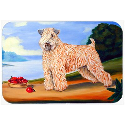 Wheaten Terrier Soft Coated Kitchen/Bath Mat Size: 24 H x 36 W x 0.25 D