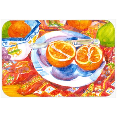 Florida Oranges Sliced For Breakfast Kitchen/Bath Mat Size: 24 H x 36 W x 0.25 D