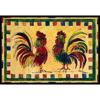 Rooster Doormat Rug Size: Rectangle 2 x 3