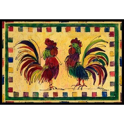 Rooster Doormat Rug Size: 2 x 3
