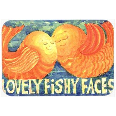 Fish Kissing Fish Kitchen/Bath Mat Size: 24 H x 36 W x 0.25 D