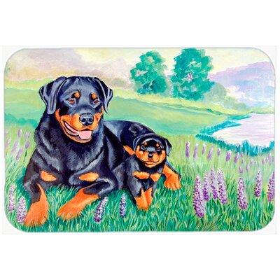 Rottweiler Kitchen/Bath Mat Size: 24 H x 36 W x 0.25 D