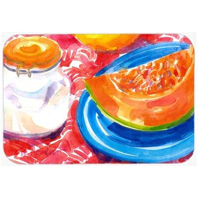 A Slice Of Cantelope Kitchen/Bath Mat Size: 20