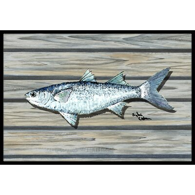 Fish Mullet Doormat Mat Size: Rectangle 2 x 3