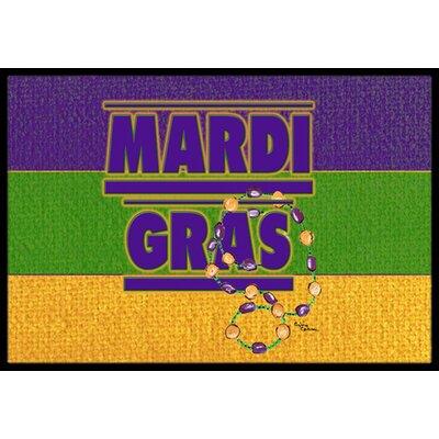 Mardi Gras Doormat Rug Size: 2 x 3