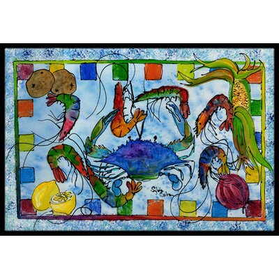 Crab Doormat Rug Size: Rectangle 2 x 3
