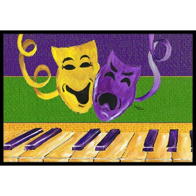 Mardi Gras Doormat Mat Size: Rectangle 2 x 3