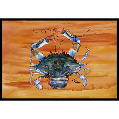 Crab Indoor/Outdoor Doormat Mat Size: Rectangle 2 x 3