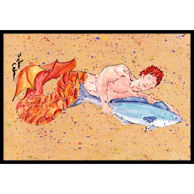 Merman Doormat Rug Size: 2 x 3