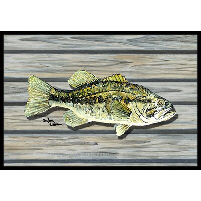 Fish Bass Small Mouth Doormat Rug Size: Rectangle 2 x 3