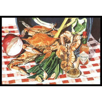 Crab Boil Doormat Mat Size: Rectangle 16 x 2 3