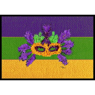 Mardi Gras Doormat Rug Size: Rectangle 2 x 3