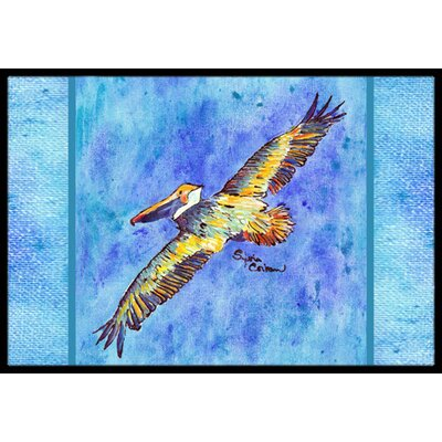 Pelican Doormat Rug Size: Rectangle 16 x 2 3