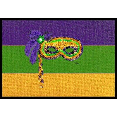 Mardi Gras Doormat Mat Size: Rectangle 2 x 3