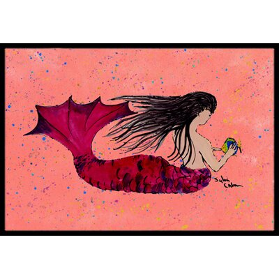 Mermaid Doormat Mat Size: Rectangle 2 x 3