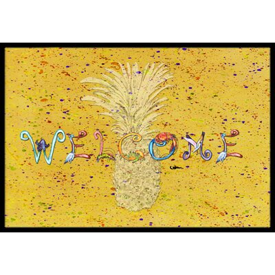 Richland Pineapple Rectangle Doormat Mat Size: Rectangle 2 x 3
