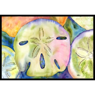 Sand Dollar Doormat Mat Size: Rectangle 16 x 2 3