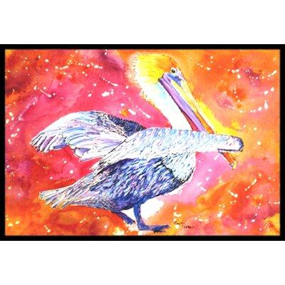 Pelican Doormat Mat Size: Rectangle 2 x 3