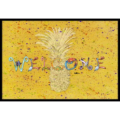 Richland Pineapple Rectangle Doormat Mat Size: Rectangle 16 x 2 3