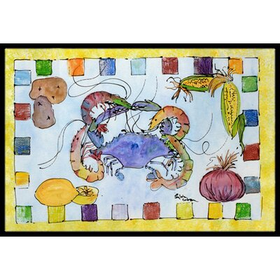 Crab Doormat Mat Size: Rectangle 2' x 3'