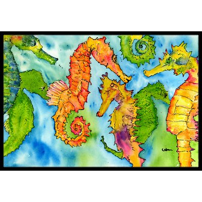 Seahorse Doormat Rug Size: Rectangle 2 x 3