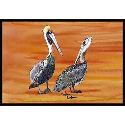 Pelican Doormat Rug Size: Rectangle 16 x 2 3