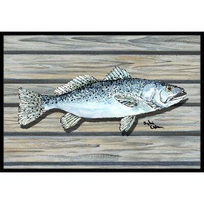 Fish Speckled Trout Doormat Mat Size: Rectangle 16 x 2 3