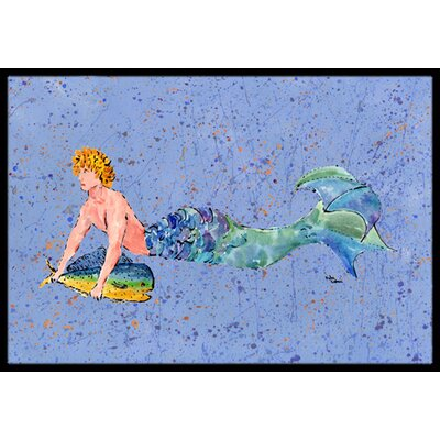 Merman Doormat Mat Size: Rectangle 16 x 2 3