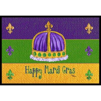 Mardi Gras Doormat Mat Size: Rectangle 16 x 2 3
