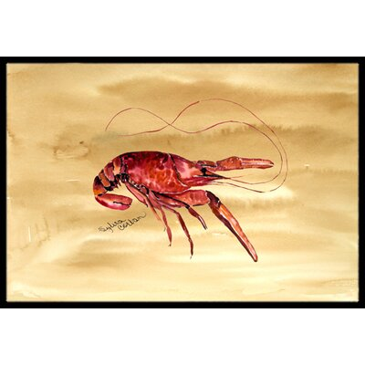 Crawfish Doormat Mat Size: Rectangle 16 x 2 3
