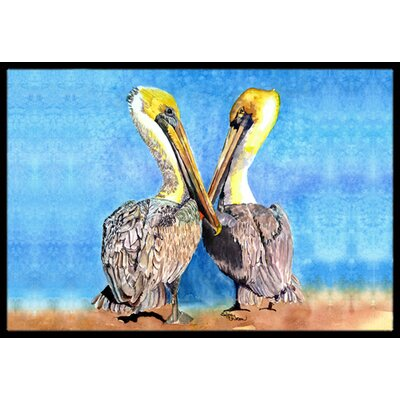 Pelican Doormat Mat Size: Rectangle 1'6