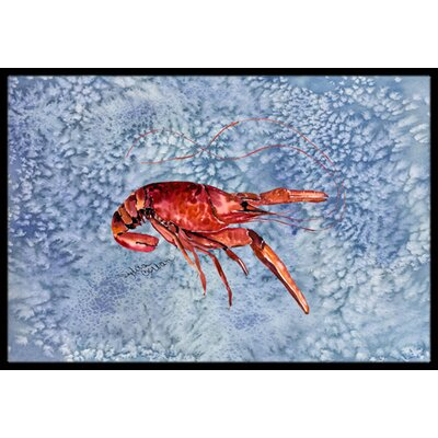 Crawfish Doormat Mat Size: Rectangle 2 x 3