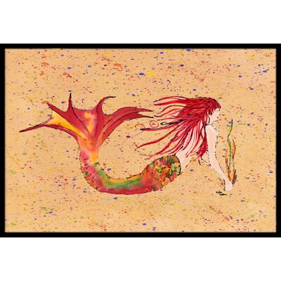 Mermaid Doormat Mat Size: Rectangle 16 x 2 3