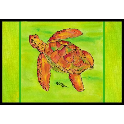 Turtle Doormat Rug Size: Rectangle 2 x 3