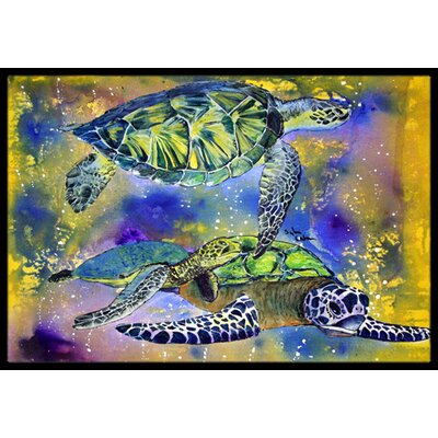Turtle Doormat Mat Size: Rectangle 2 x 3