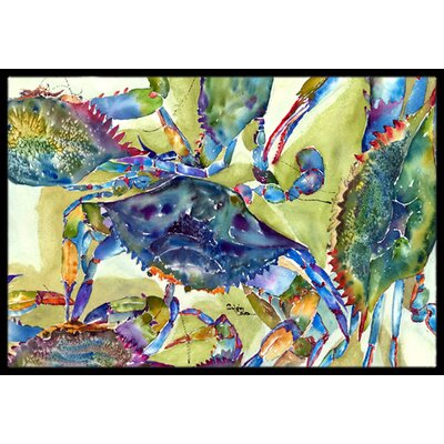Crab All over Doormat Rug Size: 16 x 2 3