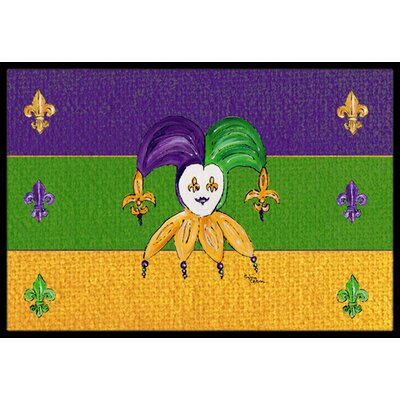 Mardi Gras Doormat Mat Size: Rectangle 16 x 2 3